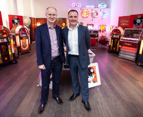 Leeds City Council Chief Executive Tom Riordan pops in for the opening of the Sound Leisure pop-up shop in Victoria Gate.
