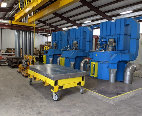 lead casting plant installed by Inprotec at Nelcos Houston production facility landscape